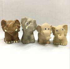 4x Fisher-Price Little People Zoo Animal Rhinoceros Elephant Tiger figure toy