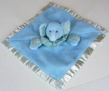 "Russ Baby Blue Elephant LOVEY Comfy Cuddlers 10"" Seersucker Ruffle Blanket"