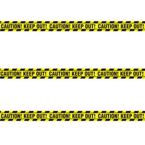 Plastik Gelb Warnung Klebeband Keep Out Fahne