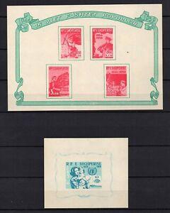 Albania, desde 1959, Michel-N° bloque 5-6  en nuevo **/MNH, Michel-€ 17,00 (K179