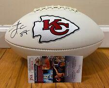 Travis Kelce Signed Full Size Chiefs Logo Football Autographed JSA COA AUTO