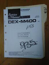 Pioneer DEX-M400 Service Manual Original Repair Book Stereo Car CD Tuner