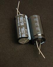 2pcs 1200uf 80v Rubycon Electrolytic Capacitor 80v1200uf Low ESR ( Upgrade 63V )