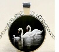Bird Swan Stainless Steel Guitar Pick Necklace Pendant Keychain