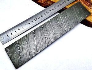 TITANs 25X5 cm Premium Damascus Steel Billet Bar Knife Making Craft Twisted 9752