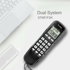 Wired Desktop/Wall Mount Phone Corded Landline Handle Telephone Home Hotel Calle