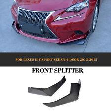 Front Bumper Splitter Fins for LEXUS IS F Sport Sedan 13-15 Carbon Fiber Refit