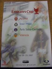 28/07/2007 At Arsenal: Inter Milan v Valencia & Arsenal v Paris St Germain & 29/