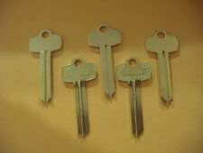 "LOT OF FIVE NICKEL SILVER LOOKS LIKE BEST KEY BLANKS FOR  "" H ""  KEYWAY"