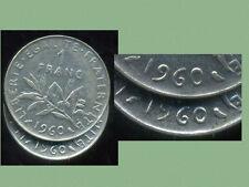 FRANCE FRANCIA  1 franc semeuse 1960  GROS ZERO
