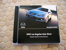 MAZDA OFFICIAL FULL MODEL LINE AND MAZDASPEED RACING CD PRESS KIT BROCHURE 2005
