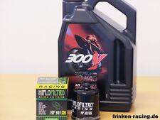 Motul Öl 300V 10W40 / Racing - Ölfilter Kawasaki ZX-10R Ninja ZX1000  Bj 06 - 19