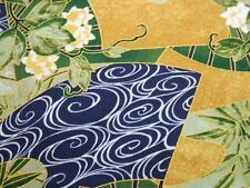 "Paradise Collection Fan Lotus Asian Swirl Kona Bay Asian Fabric 30"" REMNANT"
