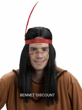 INDIAN BRAVE WIG HALLOWEEN NEW FANCY DRESS UP PARTY WIGS FUN