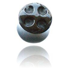 Iron Cross Plug body jewelry Pair 0G Carved Horn & Bone