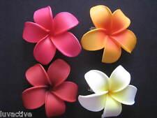 Hawaiian PLUMERIA Flower FOAM Hair CLIPS Red Pink White Wedding Bridal Luau Prom