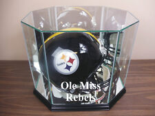 F/S Ole Miss Rebels Glass Football Helmet Display Case NFL NCAA UV