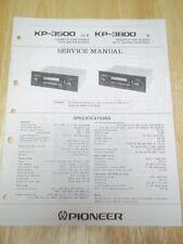 Pioneer Service Manual~KP-3500/3800 Car Stereo Cassette Radio~Original~Repair