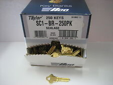 Key Blanks for Locksmith / 250 Schlage SC1  / Brass / Made by Ilco