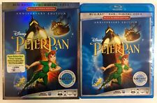 DISNEY PETER PAN BLU RAY DVD 2 DISC SET SIGNATURE COLLECTION + SLIPCOVER SLEEVE