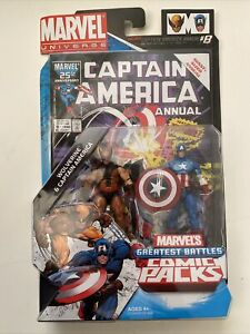 Marvel Universe Greatest Battles Comic Packs WOLVERINE & CAPTAIN AMERICA Figures