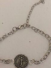 Denarius Of Titus Man With Spear WC25 Made From Pewter on Anklet / Bracelet