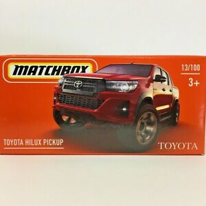 NEW Matchbox Power Grab Toyota Hilux Pickup Dual Cab Red Ute 2021 No 13 GXN23