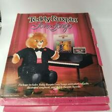 Vintage Teddy Ruxpin Sing Love Songs Musial Book Cassette Tuxedo Outfit 1986 New