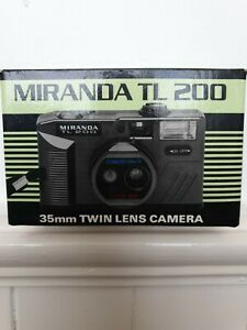 Vintage Miranda TL200 35mm Twin Lens Camera In Box , Tested and Working, inc fla