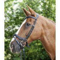 Leather laced rênes par Windsor équestre noir ou havane équitation rênes