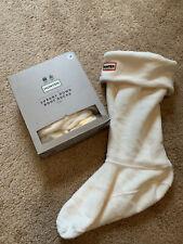 Hunter Luxury Down Boot White Socks Long Size Medium