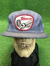 Vintage Snap On Tools Cap Hat Denim Blue K-Brand Usa Snapback Trucker Deadstock