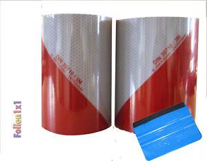 3M Warnmarkierung rot/weiß DIN30710 Reflexfolie je 1,13 m x 141 mm links/rechts