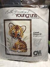 Crewel Tiger Cub Cat Picture Kit Young'uns Columbia Minerva Ruth Morehead NEW