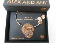 Alex and Ani Evil Eye Bangle Bracelet Rose Gold New Tag Box Card 2018