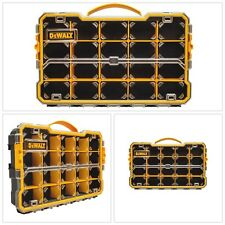 Small Parts Organizer 20 Compartment Durable Plastic Carry Handle Tool Storage