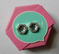 Origami Owl Earrings Silver Pave Hexagon Halo - NEW & Authentic FREE Shipping