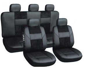 Sitzbezüge Autoschonbezüge Schwarz geeignet für Renault Laguna II 2001 - 2007