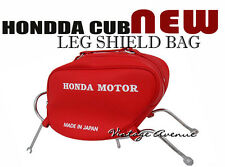 HONDA STEP THRU C50 C65 C70 C90 CM90 CM91 LEG SHIELD BAG W/ CHROME RACK [RED]
