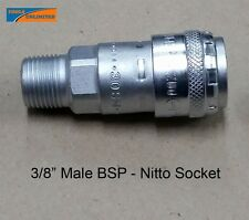 """Genuine Nitto Air Fittings (One Touch Series) (3X) 3/8"""" Male BSP Sockets"""