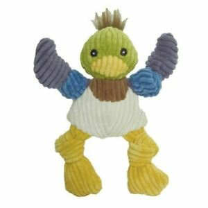 HuggleHounds Woodland Knotties Dog Toy Duck Soft Play Durable Squeaky - Small