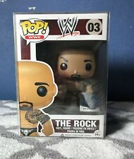 Wwe Funko Pop The Rock #03 Vaulted Retired W/ Pop Protector