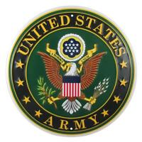 United States Army Logo Metal Sign, 12 Inch Round Embossed Aluminum Emblem