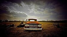 """Rusty Dodge Pickup Truck Antique- 42"""" x 24"""" LARGE WALL POSTER PRINT NEW."""