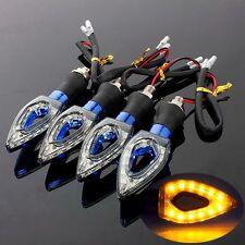 4x AMBER 12 LED UNIVERSAL MOTORCYCLE MOTORBIKE TURN SIGNAL INDICATORS LIGHT LAMP