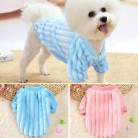 Soft Fleece Pet Dog Jumper Small Medium Dogs Winter Clothes Warm Pajamas XS-2XL