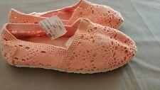 Union BaySize Size 1 Coral Crochet Shelby Flat shoes NWOT