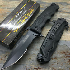 Tac Force Assisted Open Tactical Rescue Knife w/ Glass Breaker