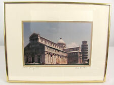 Pisa's Leaning Tower of Pisa Italy Cathedral 18x14 Framed Signed Photo Print