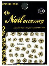 Nagelsticker Blumen Nail Art Sticker Nagelaufkleber Selbstklebend 3D Ble 727d